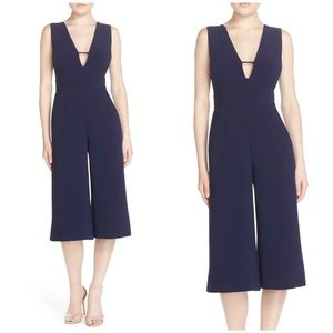 Adelyn Rae Blue Sleeveless Culotte Jumpsuit